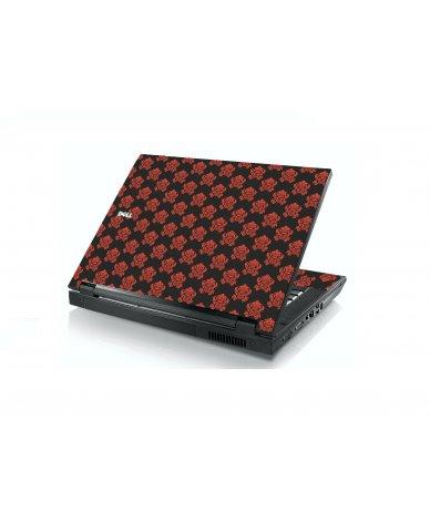 Black Flower Burst Dell E5400 Laptop Skin