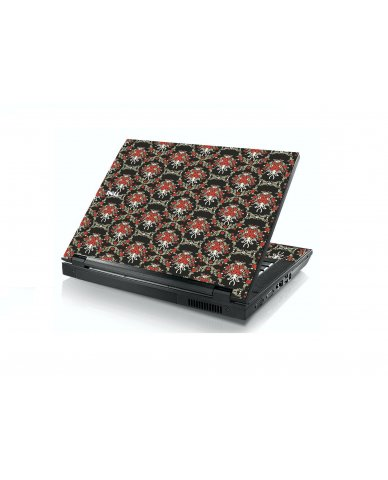 Black Flower Versailles Dell E5400 Laptop Skin