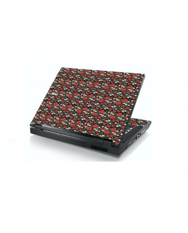 Black Red Roses Dell E5400 Laptop Skin