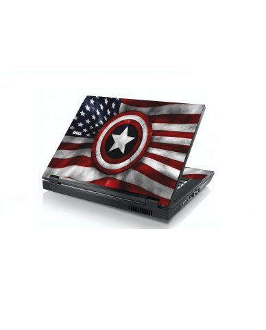 Capt America Flag Dell E5400 Laptop Skin