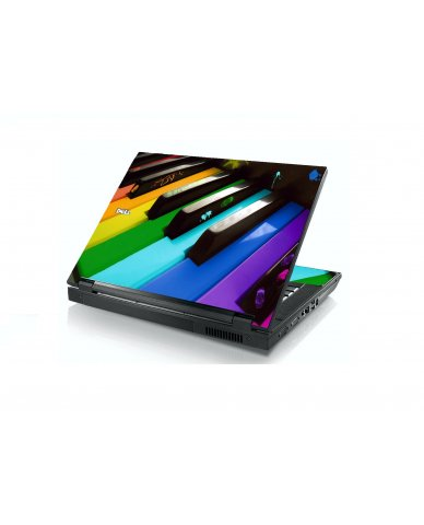 Colorful Piano Dell E5400 Laptop Skin