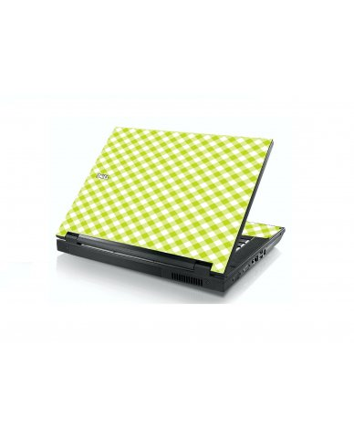 Green Checkered Dell E5400 Laptop Skin