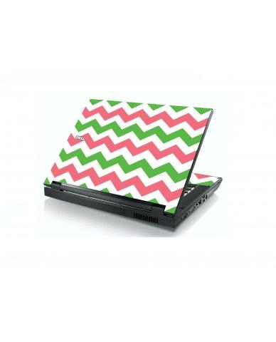Green Pink Chevron Dell E5400 Laptop Skin