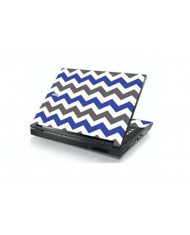 Grey Blue Chevron Dell E5400 Laptop Skin
