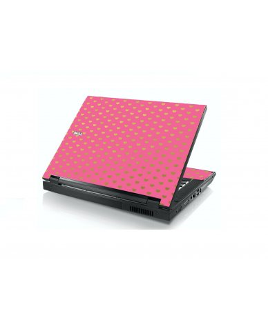 Pink With Gold Hearts Dell E5400 Laptop Skin