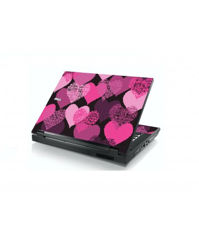 Pink Mosaic Hearts Dell E5400 Laptop Skin