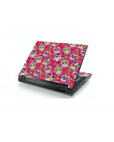 Pink Sugar Skulls Dell E5400 Laptop Skin