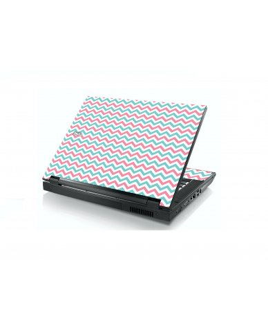 Pink Teal Chevron Waves E5400 Laptop Skin