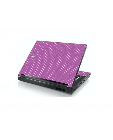Purple Polka Dot Dell E5400 Laptop Skin