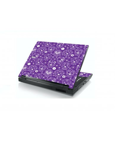 Purple Sugar Skulls Dell E5400 Laptop Skin