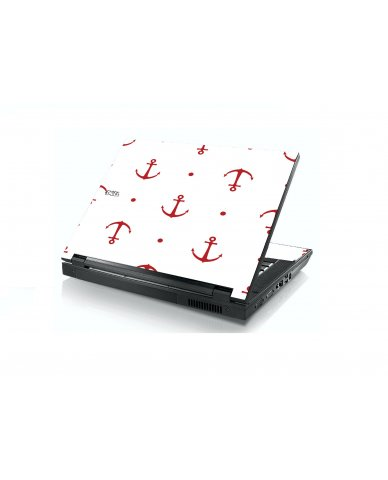 Red Anchors Dell E5400 Laptop Skin