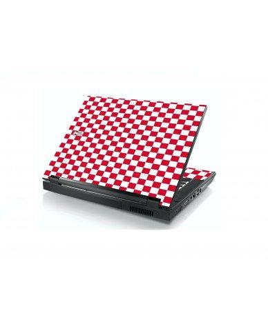 Red Checkered Dell E5400 Laptop Skin