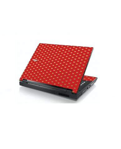 Red Gold Hearts Dell E5400 Laptop Skin