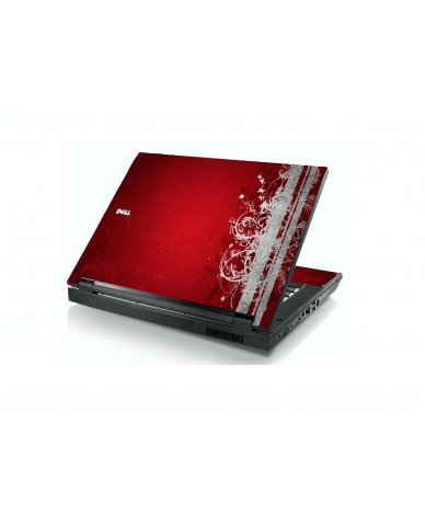 Red Grunge Dell E5400 Laptop Skin