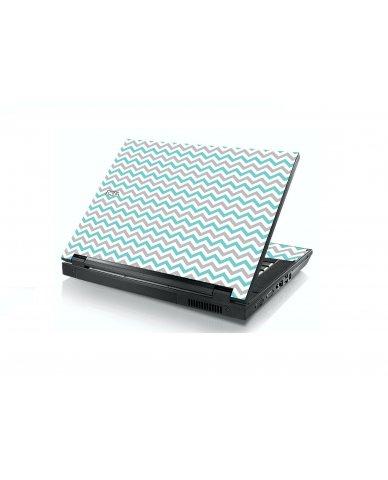 Teal Grey Chevron Waves Dell E5400 Laptop Skin