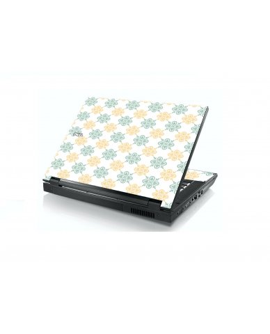 Yellow Green Flowers Dell E5400 Laptop Skin