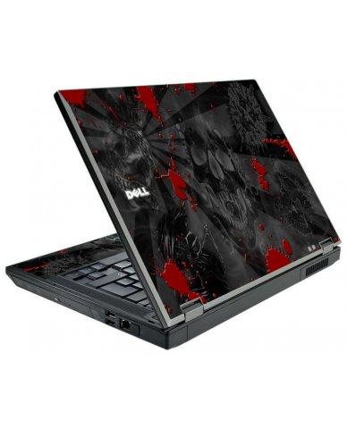 Black Skulls Red Dell E5410 Laptop Skin