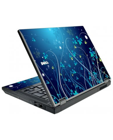 Blue Flowers Dell Latitude E5410 Laptop Skin