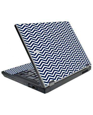 Blue Wavy Chevron Dell E5410 Laptop Skin
