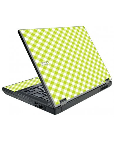 Green Checkered Dell E5410 Laptop Skin