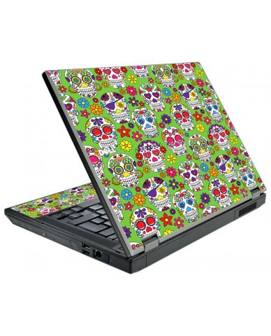 Green Sugar Skulls Dell E5410 Laptop Skin