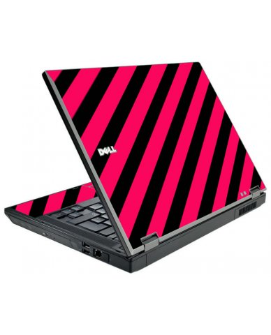 Pink Black Stripes Dell E5410 Laptop Skin