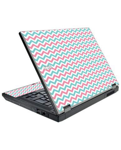 Pink Teal Chevron Waves Dell E5410 Laptop Skin