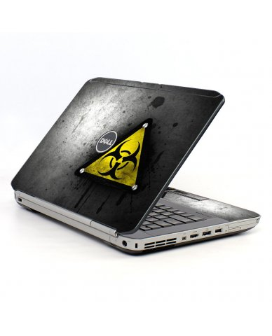 Black Caution Dell E5420 Laptop Skin