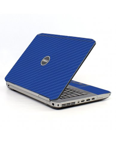 Blue Carbon Fiber Dell E5420 Laptop Skin