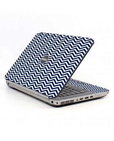 Blue Wavy Chevron Dell E5420 Laptop Skin