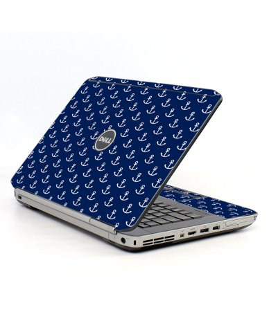 Navy White Anchors Dell E5420 Laptop Skin