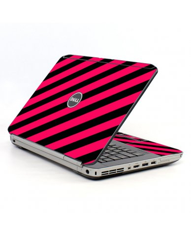 Pink Black Stripes Dell E5420 Laptop Skin
