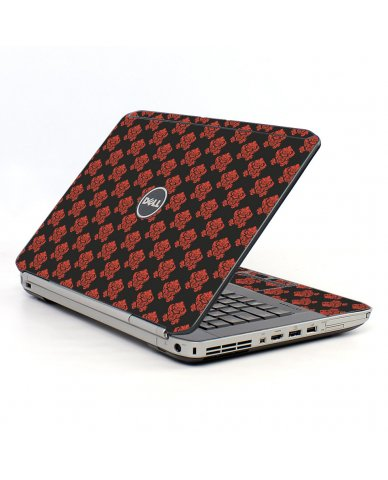 Black Flower Burst Dell E5430 Laptop Skin