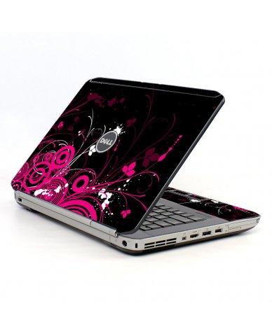 Black Pink Butterfly Dell E5430 Laptop Skin