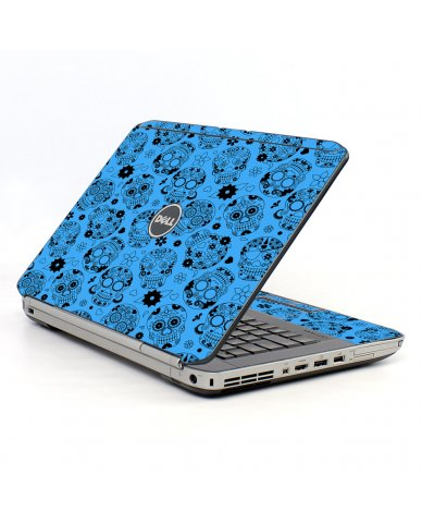 Crazy Blue Sugar Skulls Dell E5430 Laptop Skin