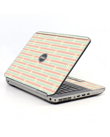 Crazy Circus Stripes Dell E5430 Laptop Skin