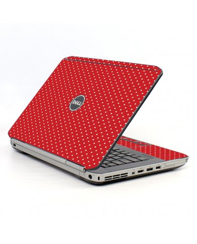 Red Polka Dot Dell E5430 Laptop Skin