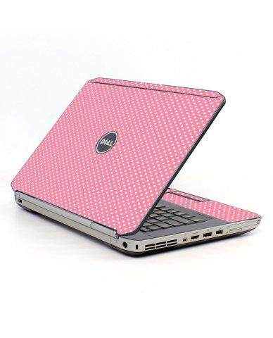 Retro Salmon Polka Dell E5430 Laptop Skin
