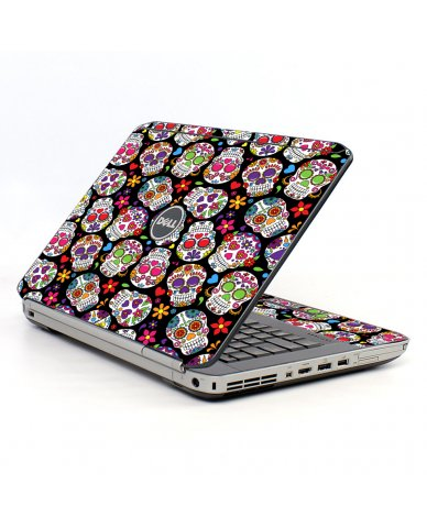 Sugar Skulls Black Flowers Dell E5430 Laptop Skin