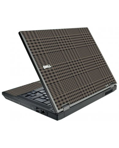 Beige Plaid Dell E5500 Laptop Skin
