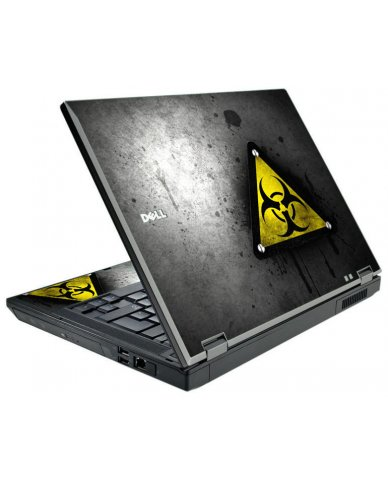 Black Caution Dell E5500 Laptop Skin