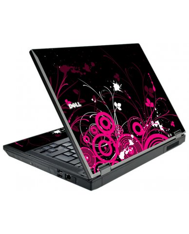 Black Pink Butterfly Dell E5500 Laptop Skin