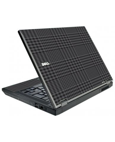 Black Plaid Dell E5500 Laptop Skin