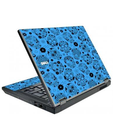 Crazy Blue Sugar Skulls Dell E5500 Laptop Skin