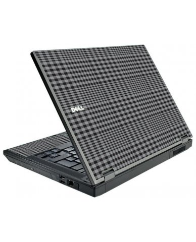 Darkest Grey Plaid Dell E5500 Laptop Skin