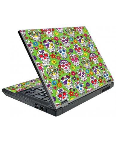 Green Sugar Skulls Dell E5500 Laptop Skin