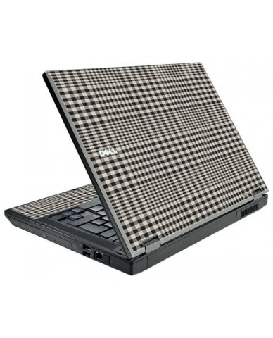 Grey Plaid Dell E5500 Laptop Skin