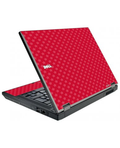 Red Pink Stars Dell E5500 Laptop Skin
