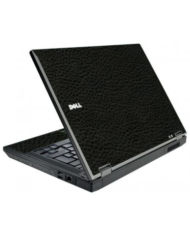 Black Leather Dell E5510 Laptop Skin