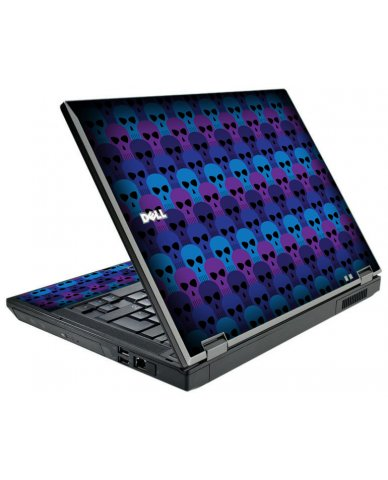 Blue Skulls Dell E5510 Laptop Skin